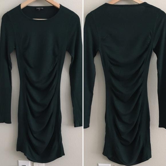 Express Dresses & Skirts - Express long sleeve dress — green